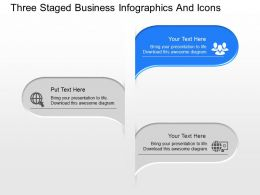 Ab Three Staged Business Infographics And Icons Powerpoint Template Slide