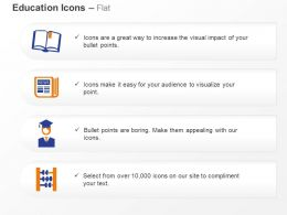 Abacus Books Graduation Education Ppt Icons Graphics