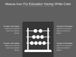 Abacus Icon For Education Having White Color