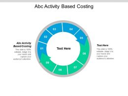 Abc Activity Based Costing Ppt Powerpoint Presentation Pictures Template Cpb