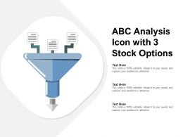 ABC Analysis Icon With 3 Stock Options