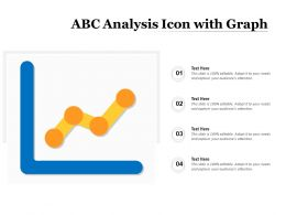 ABC Analysis Icon With Graph