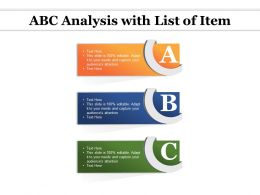 ABC Analysis With List Of Item