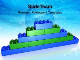 Abc Building Blocks Powerpoint Templates Lego Brick Wall Success Ppt Backgrounds