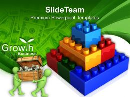 Abc Building Blocks Powerpoint Templates Lego Construction Growth Business Ppt Layouts