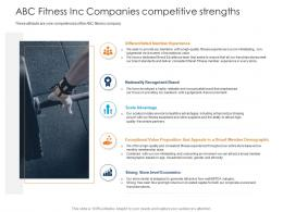 ABC Fitness Inc Companies Competitive Strengths Health And Fitness Clubs Industry Ppt Sample