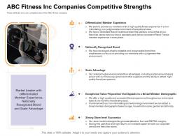 ABC Fitness Inc Companies Competitive Strengths How Enter Health Fitness Club Market Ppt Slide Portrait