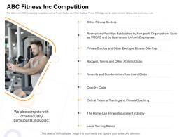 ABC Fitness Inc Competition How Enter Health Fitness Club Market Ppt Model Grid