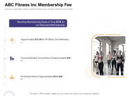 ABC Fitness Inc Membership Fee How Enter Health Fitness Club Market Ppt Template Files