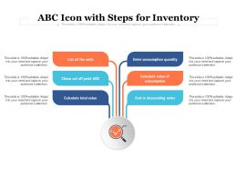 ABC Icon With Steps For Inventory