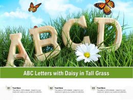 ABC Letters With Daisy In Tall Grass