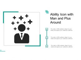 Ability Icon With Man And Plus Around