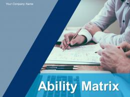 Ability Matrix Motivational Issues Skilled Competent Training Opportunity Application