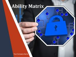 Ability Matrix Powerpoint Presentation Slides