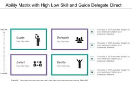 Ability Matrix With High Low Skill And Guide Delegate Direct
