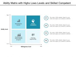 Ability Matrix With Highs Lows Levels And Skilled Competent