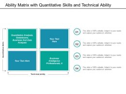 Ability Matrix With Quantitative Skills And Technical Ability