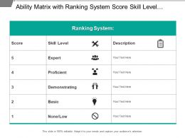 Ability Matrix With Ranking System Score Skill Level Description