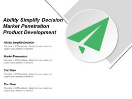Ability Simplify Decision Market Penetration Product Development Market Development