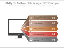 Ability To Analyze Data Analyst Ppt Example