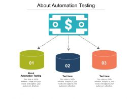 About Automation Testing Ppt Powerpoint Presentation Icon Guide Cpb