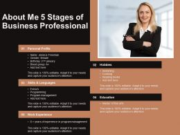 About Me 5 Stages Of Business Professional