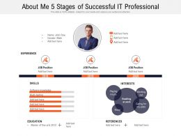 About Me 5 Stages Of Successful IT Professional