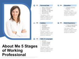 About Me 5 Stages Of Working Professional