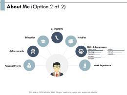 About Me Achievements Education E163 Ppt Powerpoint Presentation Show Rules