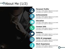 About Me Achievements I37 Ppt Powerpoint Presentation Diagram Graph Charts