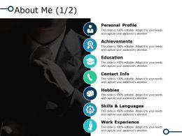 About Me Achievements I37 Ppt Powerpoint Presentation Diagram Graph Charts