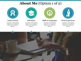 About Me Achievements I75 Ppt Powerpoint Presentation File Background Images