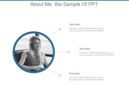 About Me Bio Sample Of Ppt
