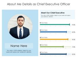About Me Details As Chief Executive Officer Infographic Template