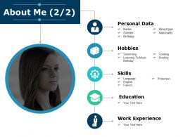 About Me Education I38 Ppt Powerpoint Presentation Diagram Ppt