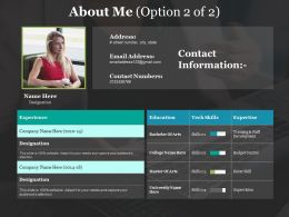 About Me Education I76 Ppt Powerpoint Presentation File Infographic Template