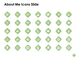 About Me Icons Slide Portfolio F323 Ppt Powerpoint Presentation Outline Structure