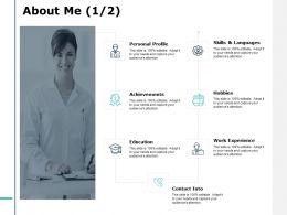 About Me J139 Achievements Ppt Powerpoint Presentation Diagram Ppt