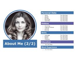 About Me Personal Data Ppt Powerpoint Presentation File Example