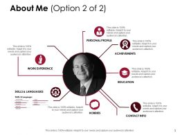 About Me Personal Profile D214 Ppt Powerpoint Presentation Infographic Template Files