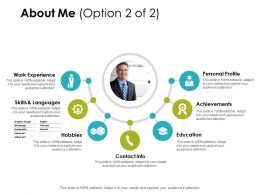About Me Personal Profile Education Ppt Powerpoint Presentation Gallery Slide