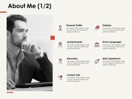 About Me Personal Profile F287 Ppt Powerpoint Presentation Professional Example