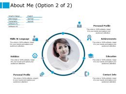 About Me Personal Profile Ppt Powerpoint Presentation Outline Graphic Tips