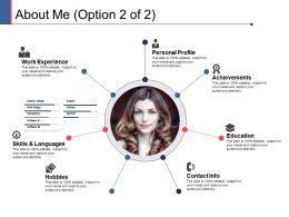 About Me Personal Profile Ppt Powerpoint Presentation Summary Slide Download
