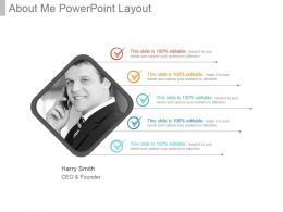 About Me Powerpoint Layout