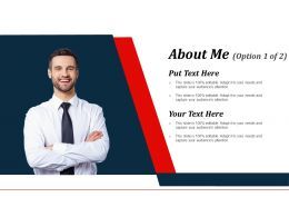 About Me Powerpoint Slide Presentation Examples
