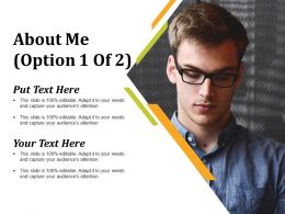 About Me Ppt Infographic Template