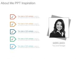 About Me Ppt Inspiration