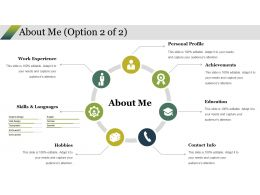 About Me Ppt Styles Example Introduction