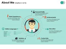 About Me Ppt Summary Infographic Template
